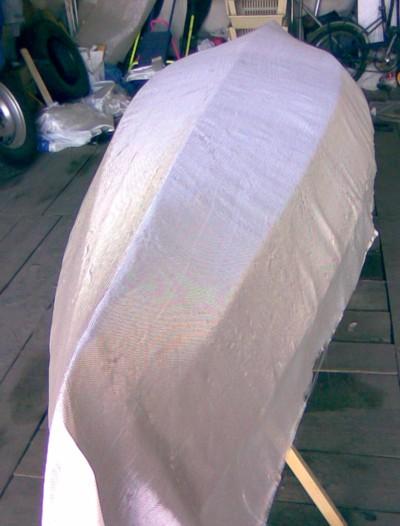 Изготовление каяка: Раскрой стеклоткани